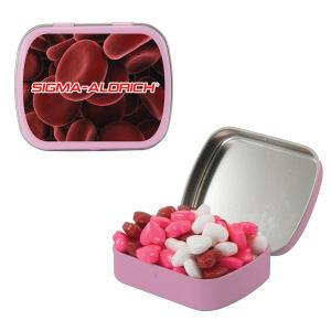 Small pink mint tin