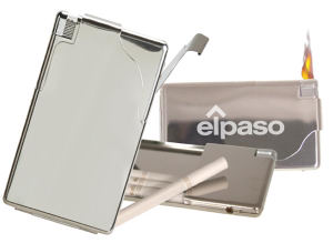 Cigarette case with electronic