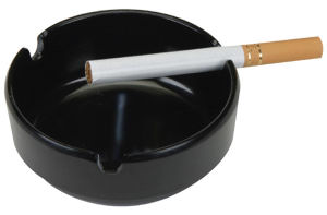 Durable plastic heatproof ashtray