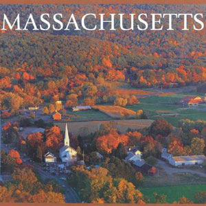 Massachusetts travel hardcover book,