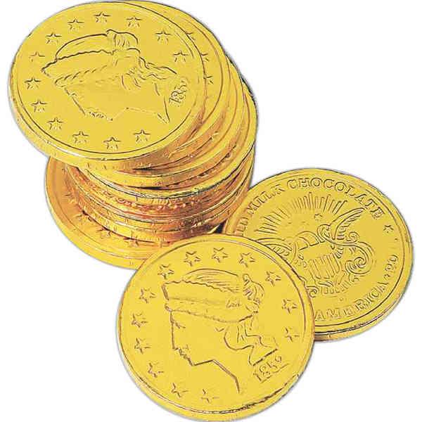 Dollar size chocolate coin