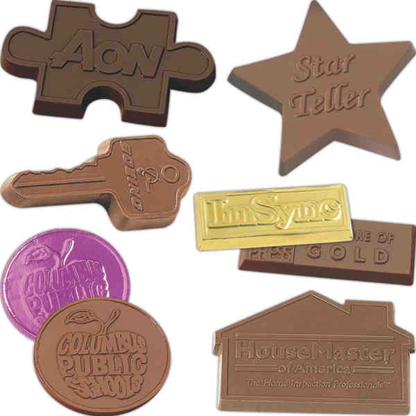 Stock cutout molded chocolate