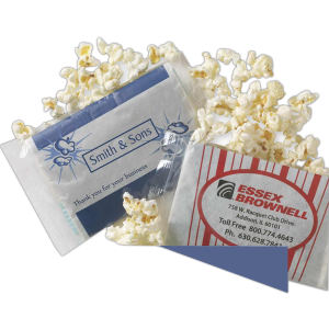 Personalized popcorn sealed in