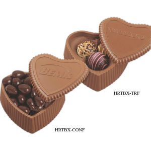 Heart shape molded chocolate