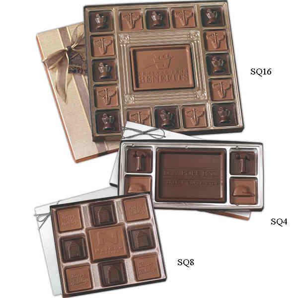 Custom chocolate squares gift