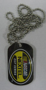 Dog tag with nickel