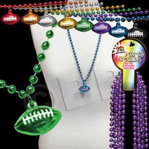 Beaded mardi gras beads