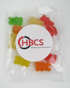 Assorted gummy bears in