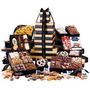 Promotional Gourmet Gifts/Baskets-GB1536BLK-Food