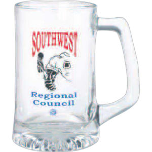 Clear glass stein with