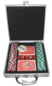Poker chip set in
