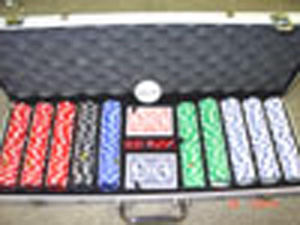 Poker chips set in