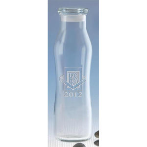 Personalized Etched Glass Water Bottle