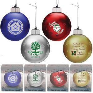Light up glass ornament.