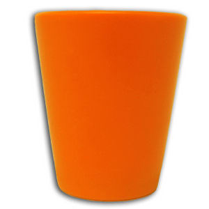 Molded plastic shot glass,
