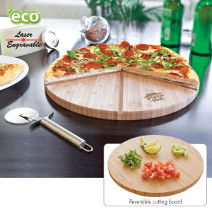 Gourmet bamboo reversible pizza
