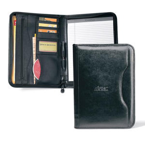 Vintage leather padfolio with