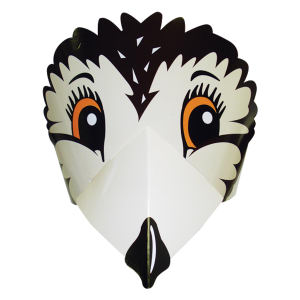 Owl headband made from