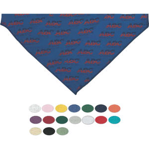 Printed pet bandana with