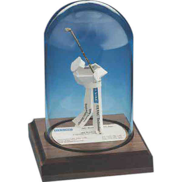 Stock business card sculpture