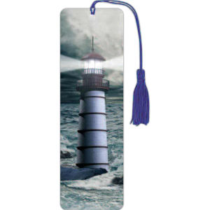 Lighthouse lenticular 3-D bookmark