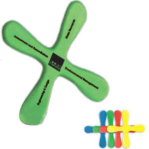 Foam boomerang with superior