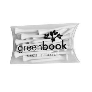 Golf tee pillow box