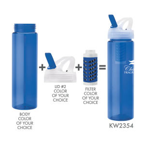 Custom imprinted promo Sports Bottle with Purifier