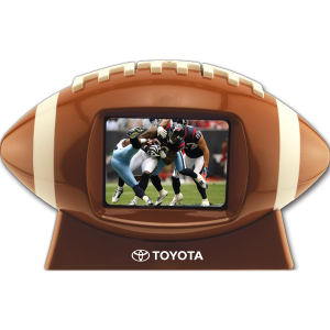 Football shaped media player