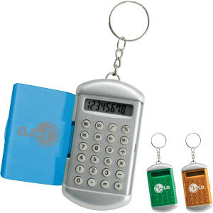 Keychain calculator with large