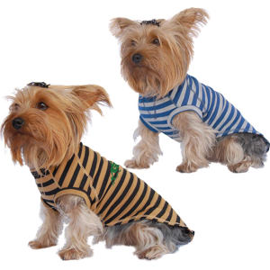 Striped dog t-shirt, cotton