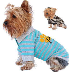 Striped dog polo shirt,