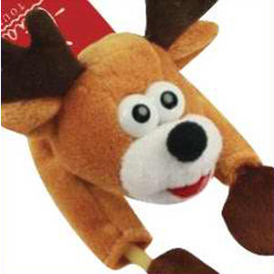 Flying shrieking reindeer toy
