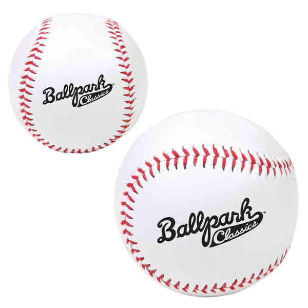 Synthetic promotional baseball with