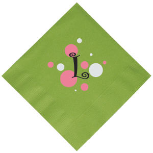 Promotional Napkins-N10-LTGREEN