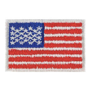 Stock American flag applique.