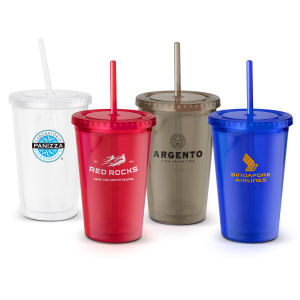 Plastic translucent 18 oz.