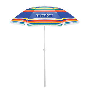 Custom imprinted promotional beach umbrella