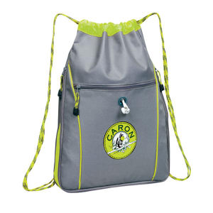 Drawstring duffle bag that