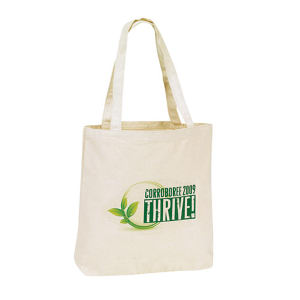 Canvas tote bag with