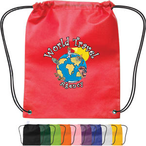 Small non-woven drawstring backpack.