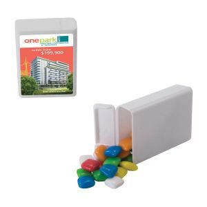 Refillable plastic candy dispenser