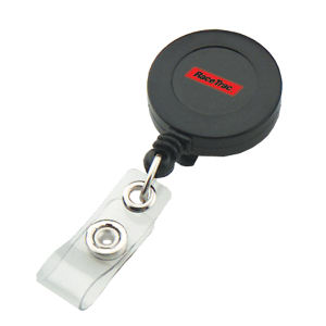 Promotional Retractable Badge Holders-BADGE-REEL-BL