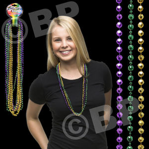 Disco style round beaded