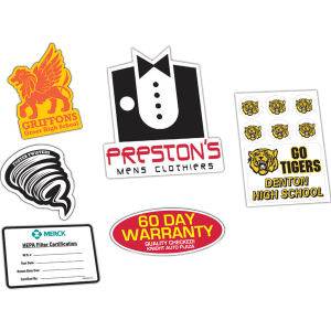 Promotional Labels, Decals, Stickers-