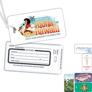 Durable luggage tag with