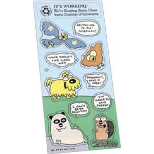 Environmental sticker sheet collection