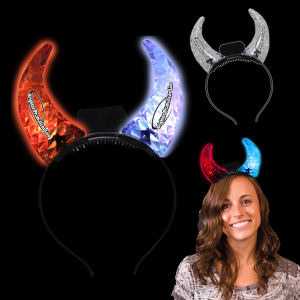 Custom Imprinted LED Devil's Horns