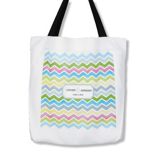 Printed Wedding Tote Bag