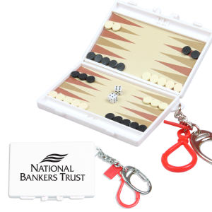 Travel backgammon game with